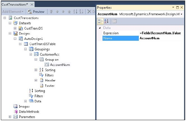 Developing a Simple SSRS Report in Visual Studio (5/6)